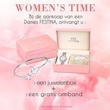 Festina Dameshorloge F16956/1 + GRATIS Armband en Juwelenbox_