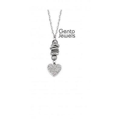 Gento Jewels Stalen Ketting Hartje 15V15