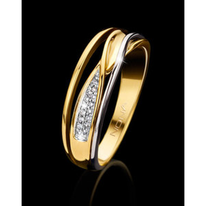 18 karaat Gouden Ring met Briljant Nona 92564
