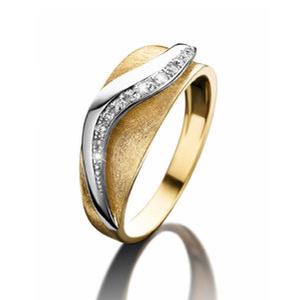 18 karaat Gouden Ring met Briljant Nona 91742