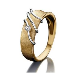 18 karaat Gouden Ring met Briljant Nona 91739